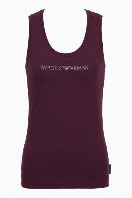 Emporio Armani Visibility Cotton tílko - plum violet