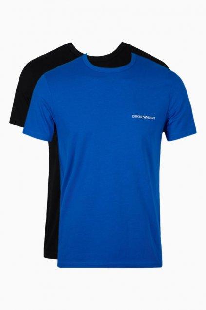 Emporio Armani Monogram trička 2-balení - černá/modrá
