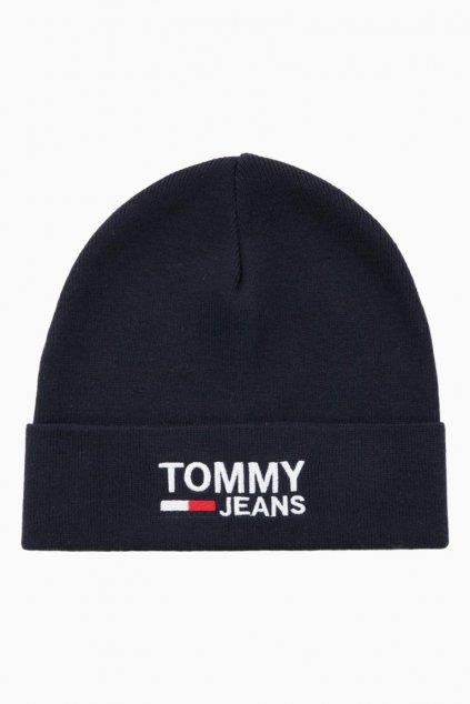 Tommy Jeans Unisex Beanie - tmavě modrá