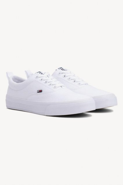 Tommy Jeans Lace up trainers - white