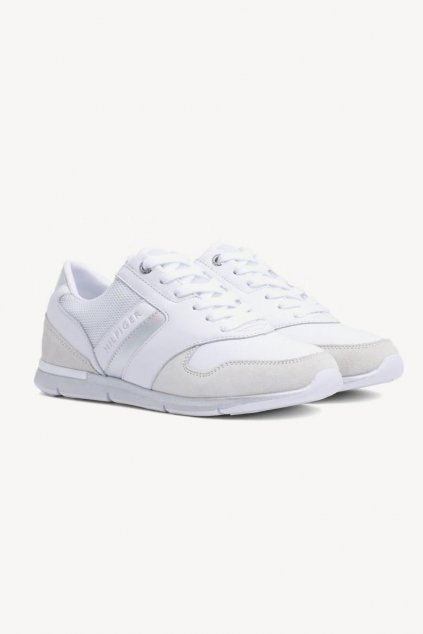 Tommy Jeans iridescent sneakers - white