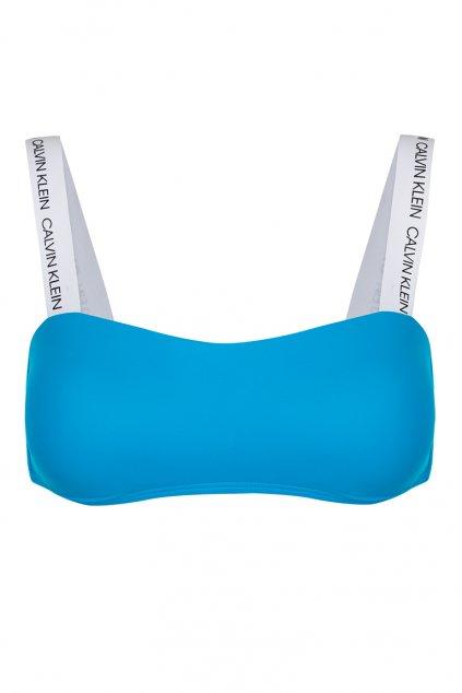 Calvin Klein bandeau vrchní díl plavek - maldive blue