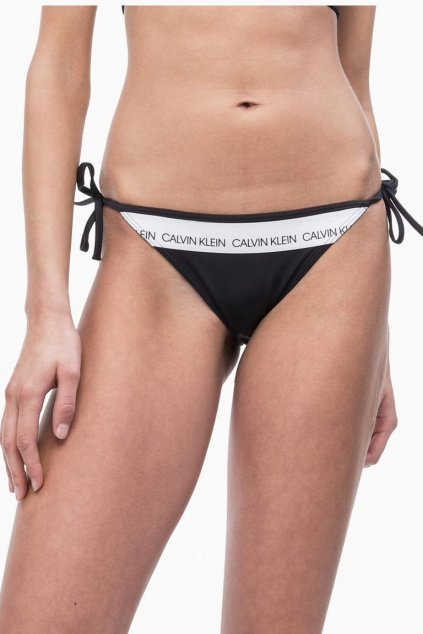 Calvin Klein string cheeky plavky - black