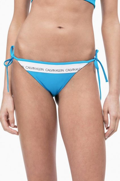 Calvin Klein string cheeky plavky - maldive blue