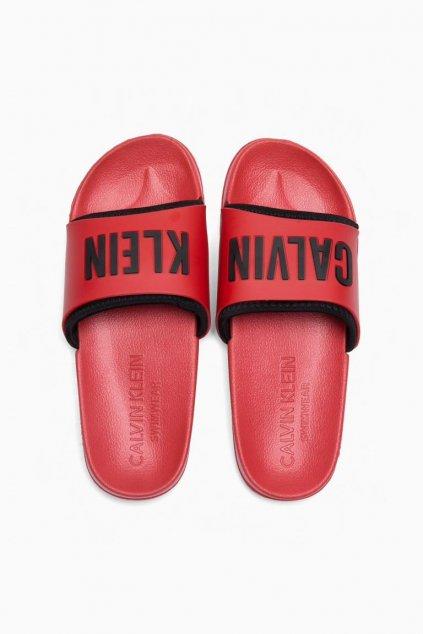 Calvin Klein pantofle - červená