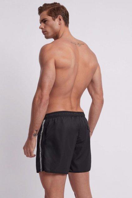 Emporio Armani logo plavky- black