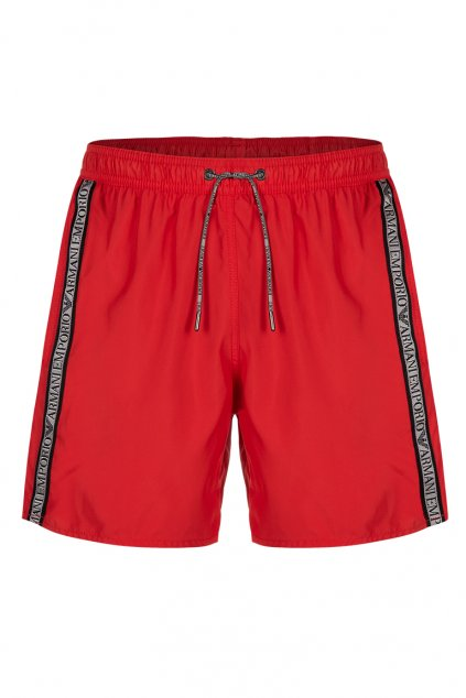 Emporio Armani logo plavky- red