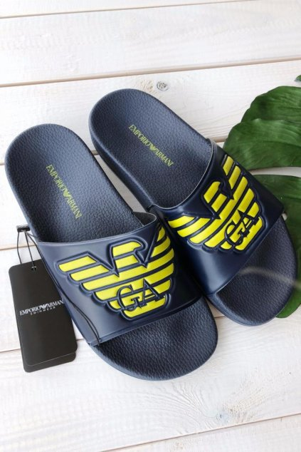 Emporio Armani pantofle - tmavě modré