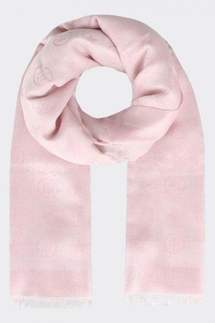 Tommy Hilfiger Monogram šátek - světle růžový