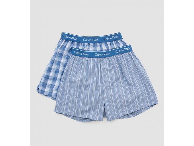 Calvin Klein Trenýrky 2 balení - modrá
