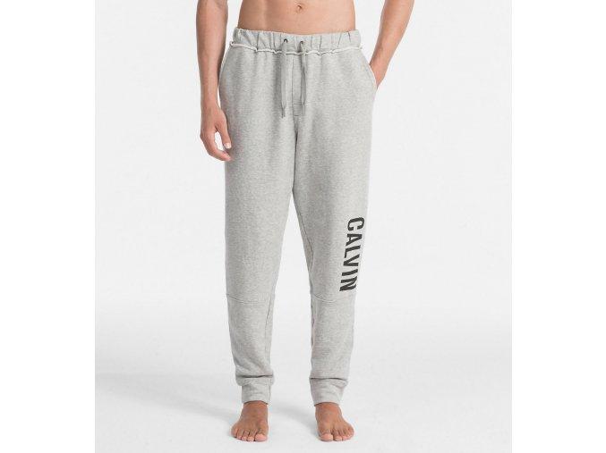 Calvin Klein logo tepláky- šedé