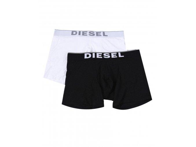 Diesel Logo Boxerky - 2 balení černá/bílá