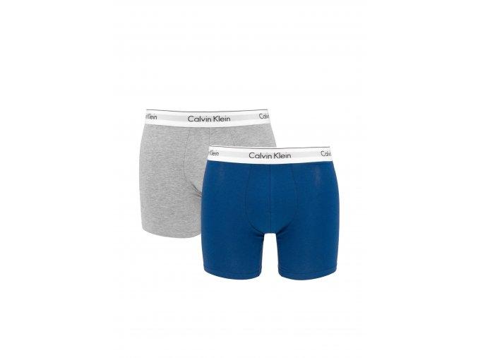 Calvin Klein Modern Cotton boxerky 2- balení - modrá/šedá