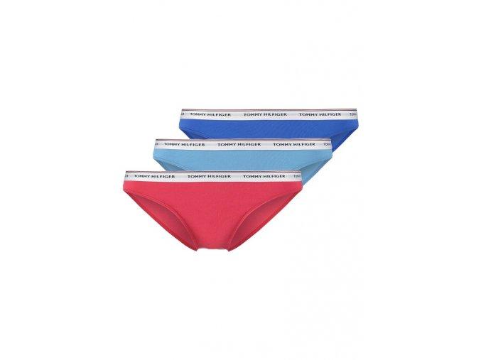 Tommy Hilfiger Iconic Cotton Bikini 3-balení - modrá, tyrkysová, červená