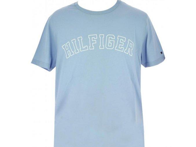Tommy Hilfiger pánské Logo Tričko - světlé modrá
