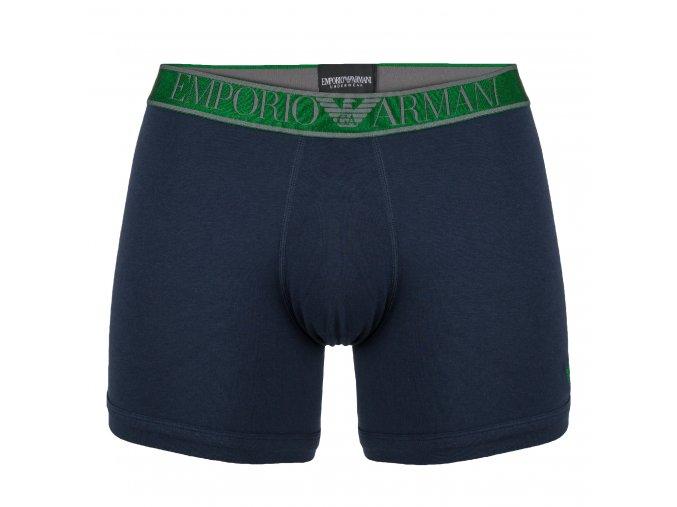 Emporio Armani Boxerky Shiny Logoband-marine/green