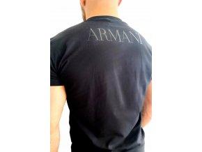 Emporio Armani Crew Neck tričko - černé