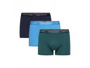 Tommy Hilfiger Boxerky Premium 3 balení - zelená/tyrkysová/modrá