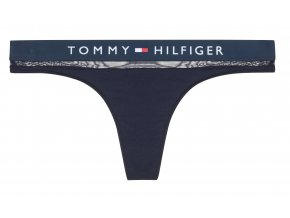 Tommy Hilfiger Sheer Flex Tanga - modrá