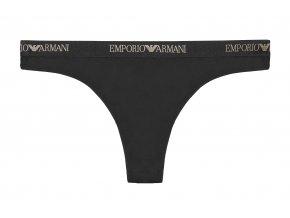 Emporio Armani Microfiber tanga -  černá/zlatá