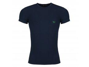 Emporio Armani Shiny Logo tričko - tmavě modré