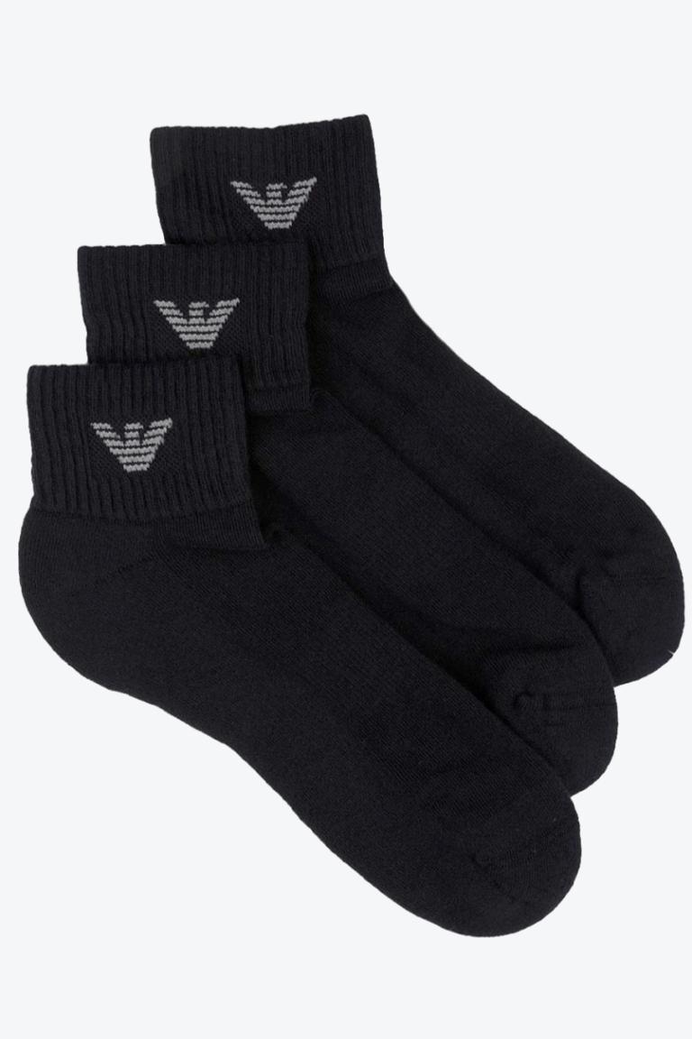 Emporio Armani Underwear Emporio Armani Pánské Ponožky 3-balení - černé Velikost: L