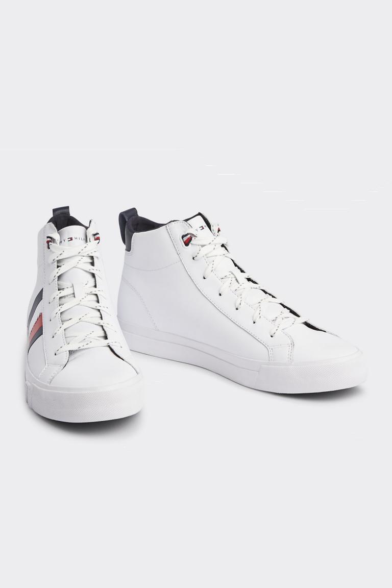 Tommy Hilfiger Tommy Jeans pánské kotníčkové sneakers - bílé Velikost: 41 Tommy Hilfiger