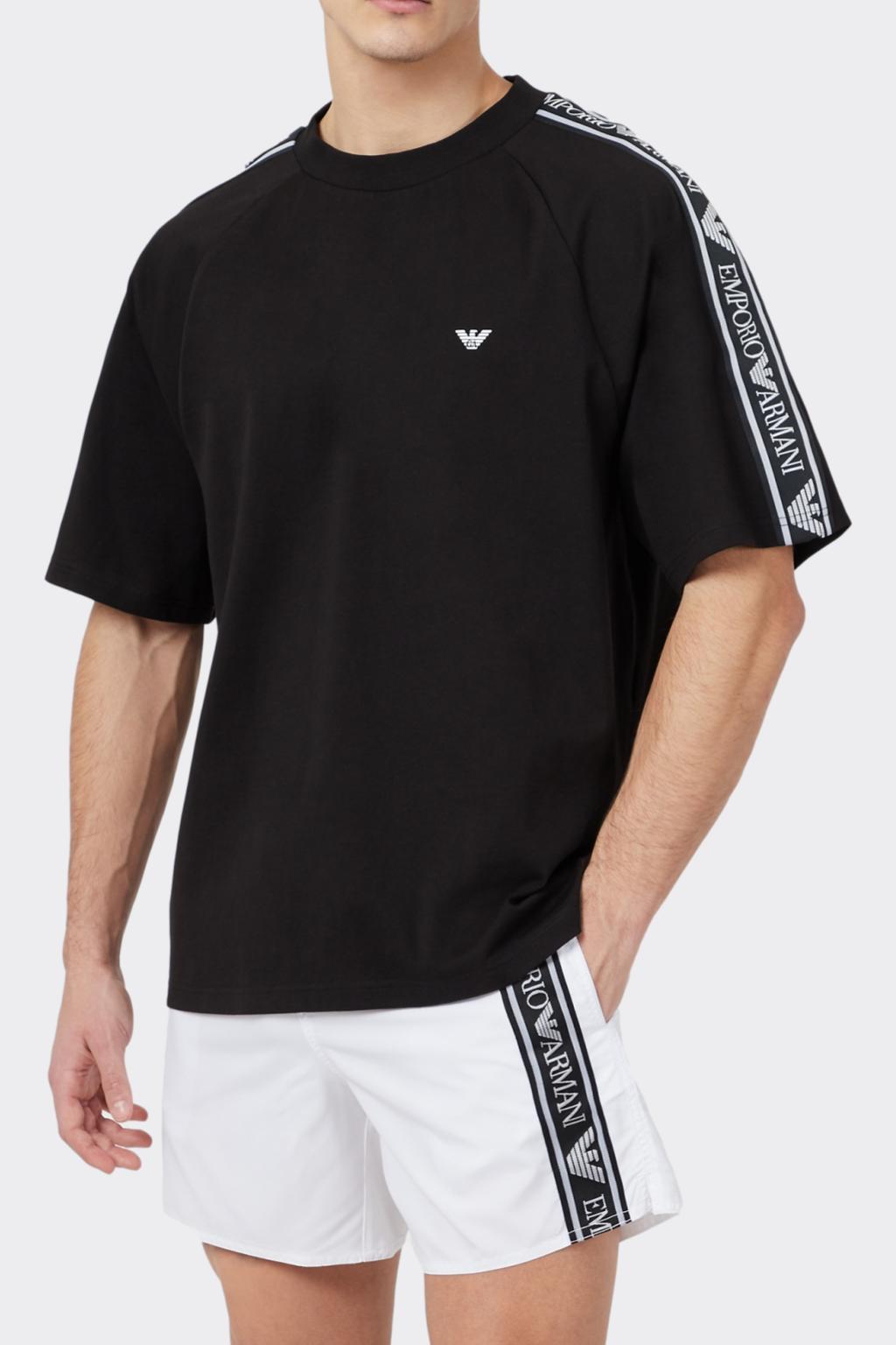Emporio Armani Underwear Emporio Armani Bold logo pánské tričko- černé Velikost: XL