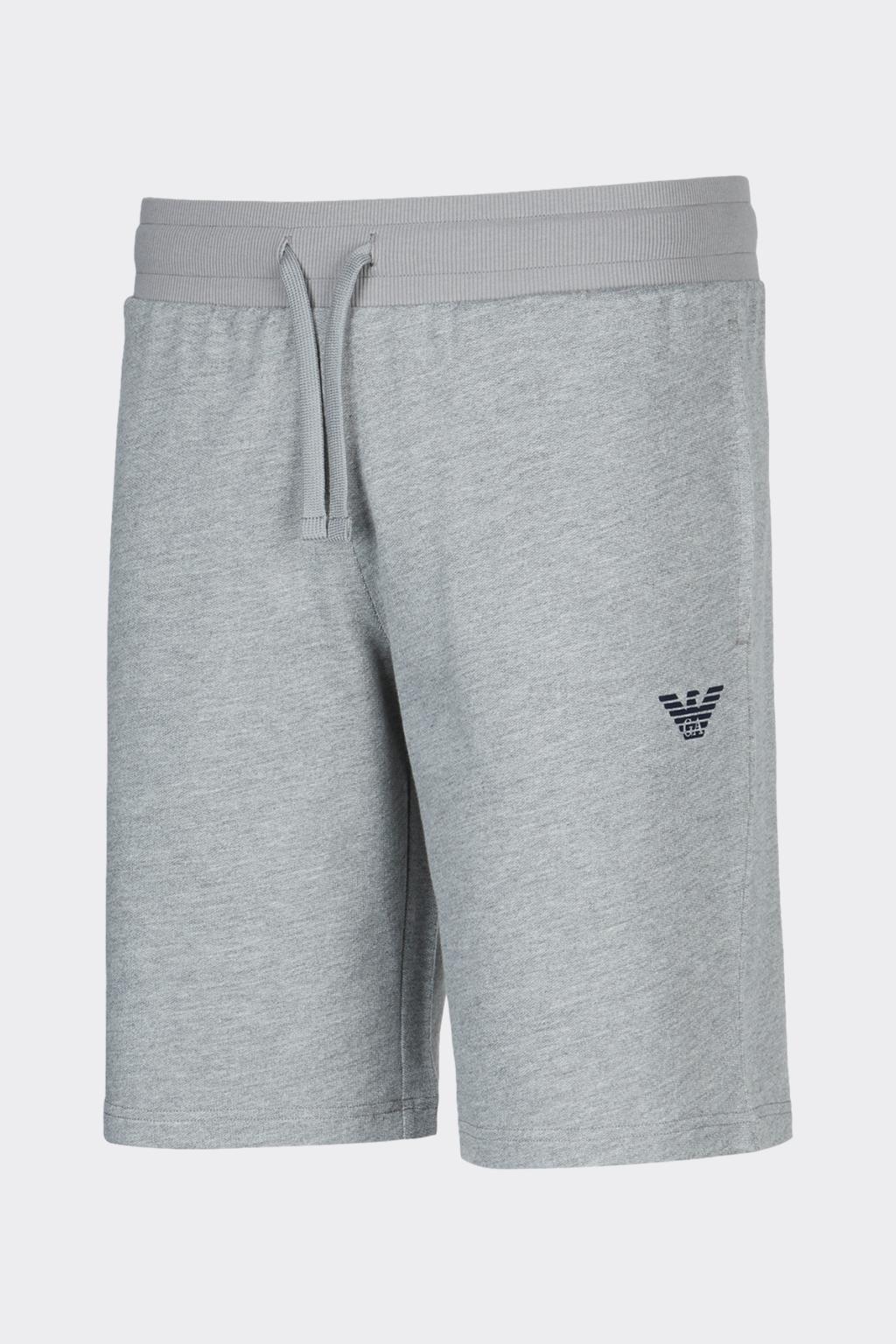 Emporio Armani Underwear Emporio Armani logo terry šortky pánské - šedé Velikost: XL