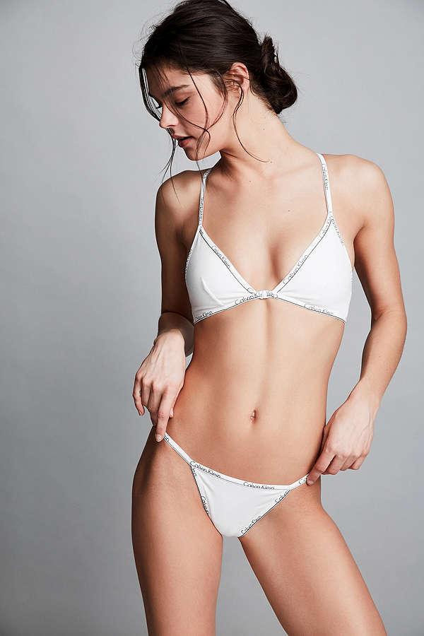Calvin Klein ID Cotton Bralette - Bílá Velikost: S