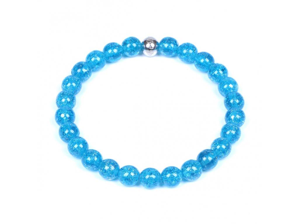 Luxusní pánský korálkový náramek Simple Aqua Blue modrý tyrkysový | Be Rare