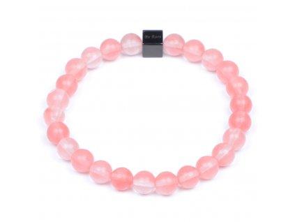 Luxusní dámský korálkový náramek Premium Cherry Quartz AAAA třešňový křišťál | Be Rare