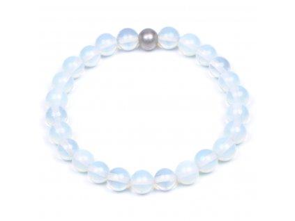 Luxusní dámský korálkový náramek mořský opál Premium Sea Opal | Be Rare