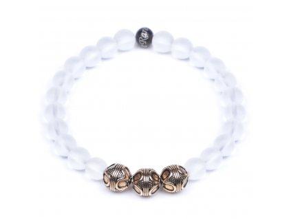 Luxusní dámský korálkový náramek křišťál Premium Clear Quartz AAAAAA přírodní | Be Rare
