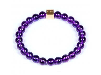 Luxusní dámský korálkový náramek ametyst Premium Ametyst AAAAAA fialový
