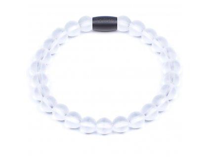 Luxusní dámský korálkový náramek křišťál zmrzlý jednoduchý Premium Clear Quartz AAAAAA Be Rare
