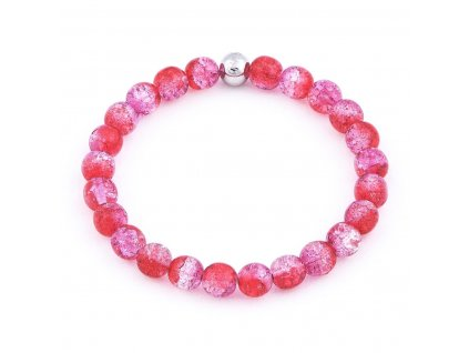Luxusní dámský korálkový náramek růžový práskaný Simple Pink Crack | Be Rare