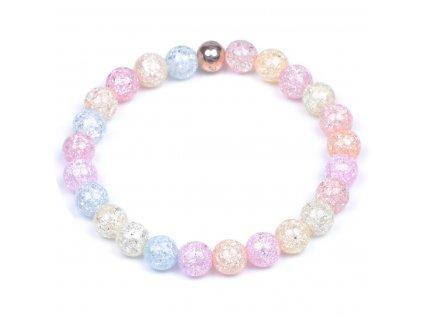 Luxusní dámský korálkový náramek barevný Simple Mix Crystal | Be Rare