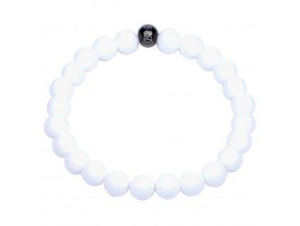Luxusní dámský korálkový náramek bílý jadeit Premium White AAAAAA | Be Rare