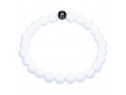 Luxusní pánský dámský korálkový náramek bílý jedeit Premium White AAAAAA