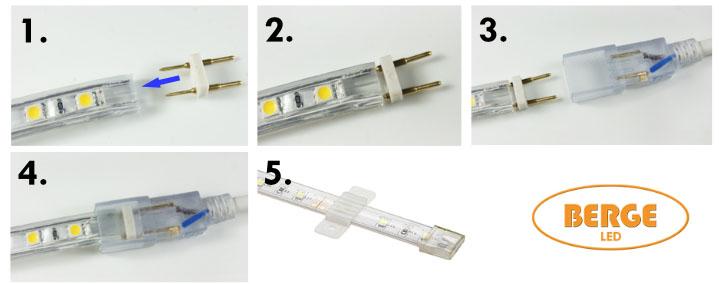 manual led pasek 230V