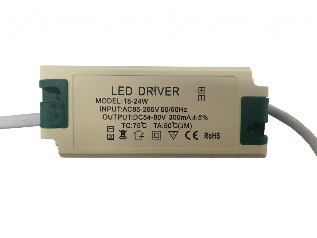 Napájecí zdroj proudový pro LED panely 18-24W 300mA
