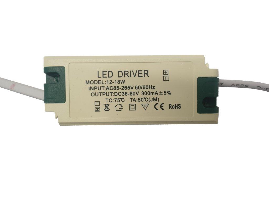 Napájecí zdroj proudový pro LED panely 12-18W 300mA