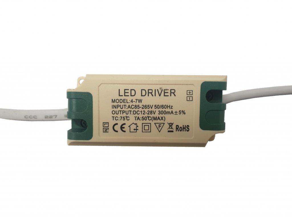 Napájecí zdroj proudový pro LED panely 4-7W 300mA