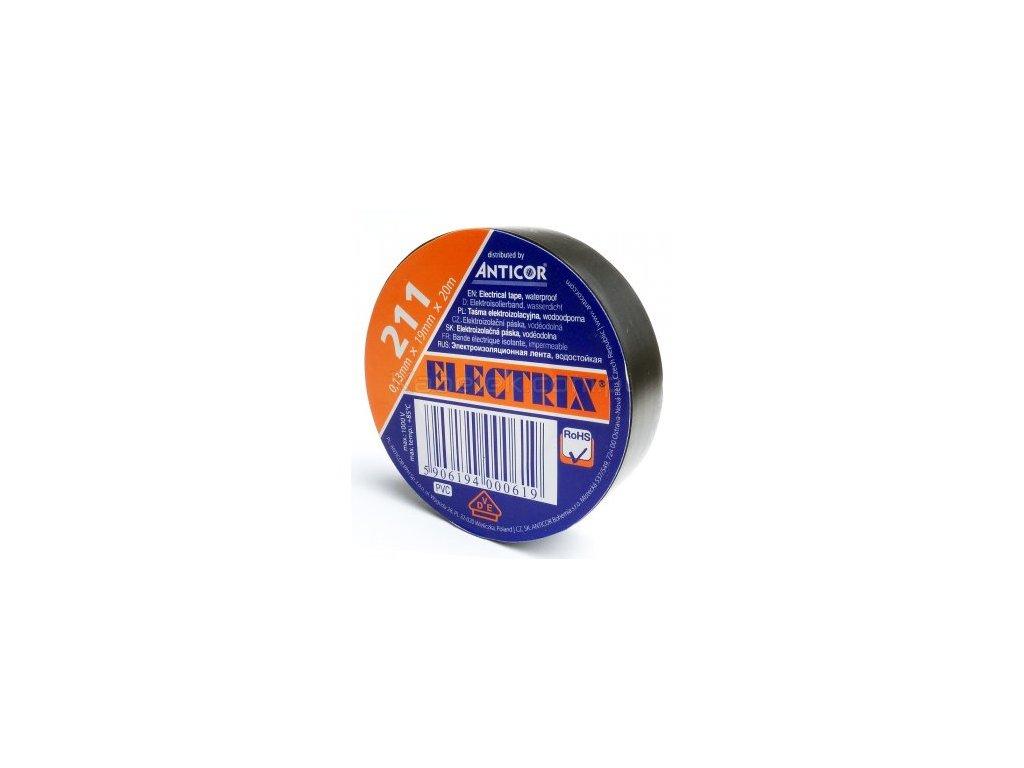 full tasma izolacyjna izolacja 19 mm 20 mb czarna electrix 211