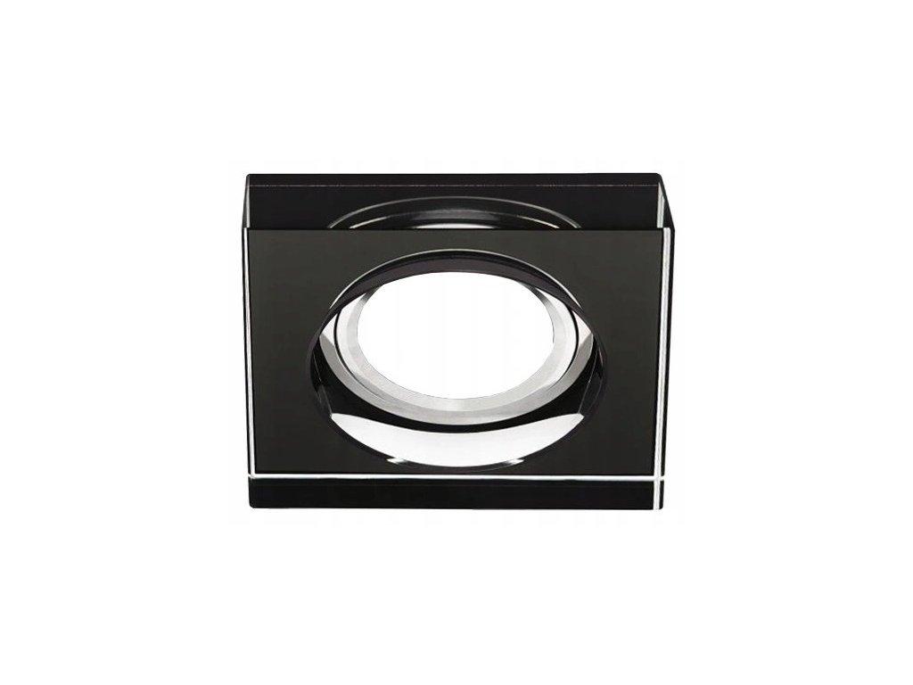 Oprawa halogenowa gruba 2cm stala czarna
