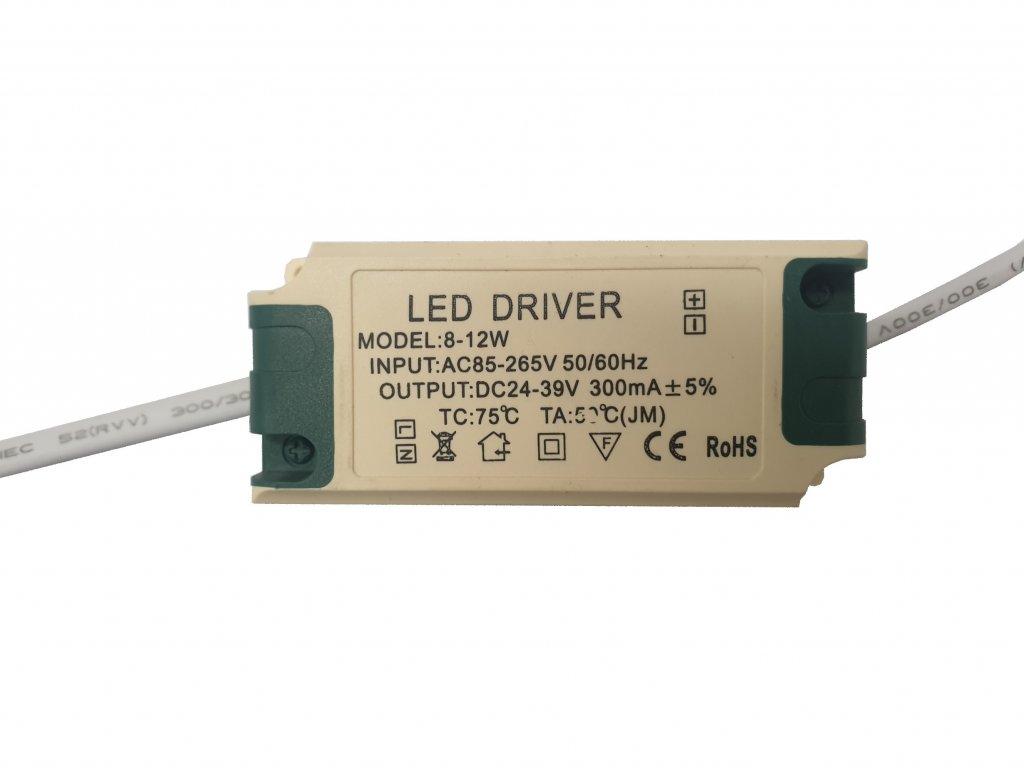 Napájecí zdroj proudový pro LED panely 8-12W 300mA
