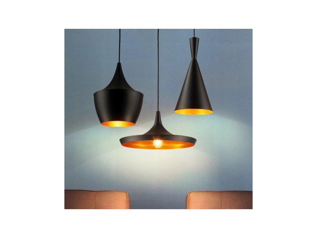 Lampa sufitowa wiszaca zyrandol LED E27 czarna EAN 5907612234999
