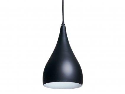 Lampa sufitowa wiszaca zyrandol LED E27 czarna EAN 5907612235019