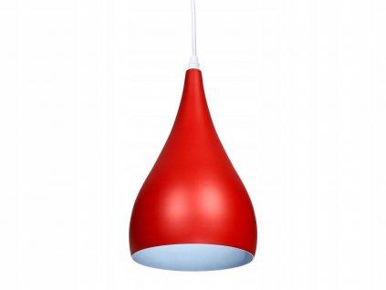 Lampa sufitowa wiszaca zyrandol LED E27 czerwona EAN 5907612235026